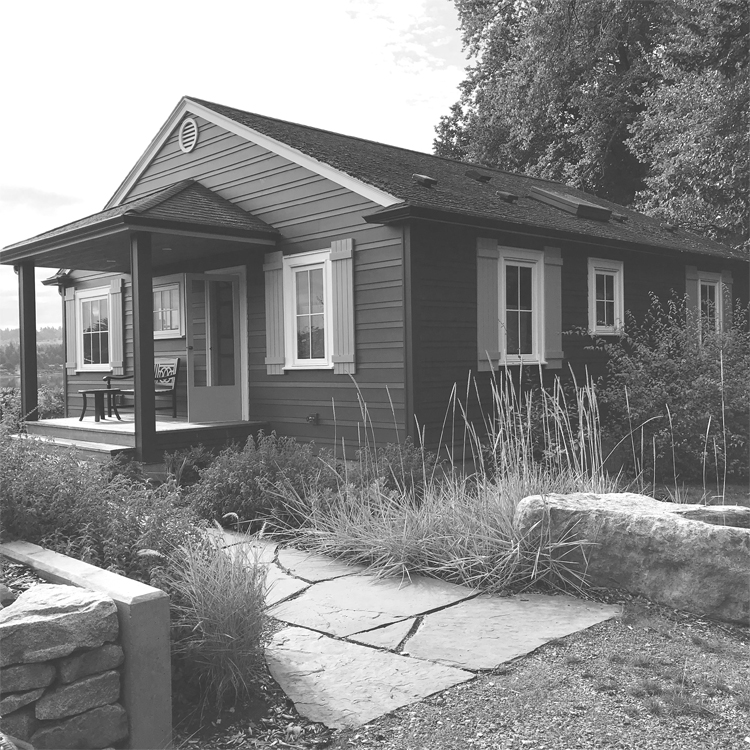 We like to think of this project as the update of a Scandinavian summer house on an island in the middle of Puget Sound